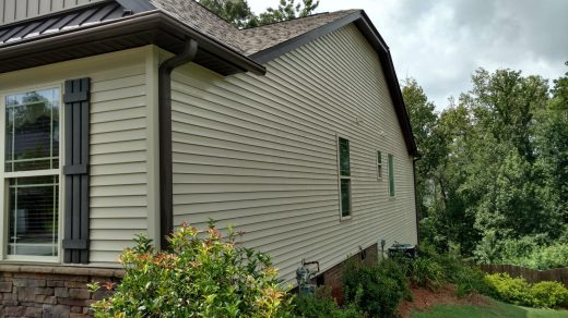 Softwashing mold off Siding